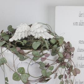 Englevinger Heng Antikk Hvit 2-pakning , hemmetshjarta.no