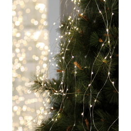 Lyslenke Dew Drop EL Kaldhvit 125 lys 140cm 10 strenger , hemmetshjarta.no