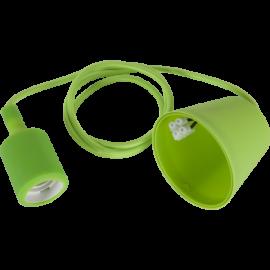 Lampeholder E27 Color Grønn 1,2m med Takkopp , hemmetshjarta.no