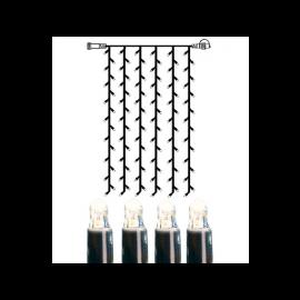 Utendørsdekorasjon System LED EL Lysgardin Extra Kallvit 102 lys 100x200cm , hemmetshjarta.no