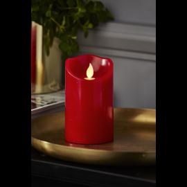 Batteridrevet Blokklys LED M-Twinkle Rød 7,5x12,5cm , hemmetshjarta.no
