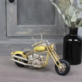 Dekorasjon Motorsykkel Gul 20x7x13 cm , hemmetshjarta.no