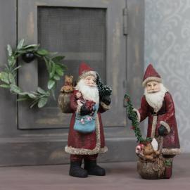 Julenisse med julegaver Mix Poly 9x20cm 2-pak , hemmetshjarta.no