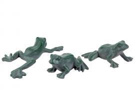 Frosk grønn/Grå Mix Poly 8-16cm 2-pack , hemmetshjarta.no