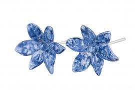 Blomst / Stick Mørkeblå Poly 5,5 cm 2-pakning , hemmetshjarta.no
