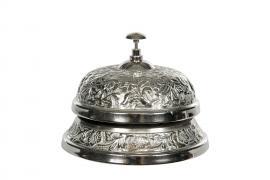 Resepsjonsklokke Antikk sølv 14x10cm , hemmetshjarta.no