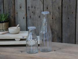 Flaske med lås H25 / Ø8 cm 500 ml klar 1 t , hemmetshjarta.no