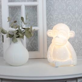 Lampe porselen Ape 21 cm - hvit , hemmetshjarta.no