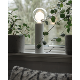 Lampefot E27 Tube Hvit 8x25 , hemmetshjarta.no