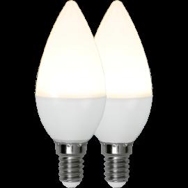 LED-Lampe E14 Ø37 lm470/40w Frostet Basic 2-pakning , hemmetshjarta.no