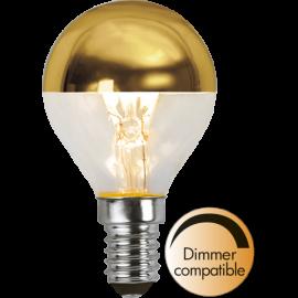 LED-Lampe E14 Top Coated Ø45 Dim lm250/25w Gold , hemmetshjarta.no