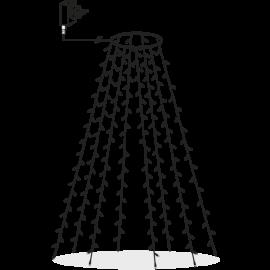 Juletrelenke Utendørs EL Serie LED Varmhvit 160 Lys 200cm , hemmetshjarta.no