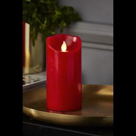 Batteridrevet Blokklys LED M-Twinkle Rød 7,5x15cm , hemmetshjarta.no