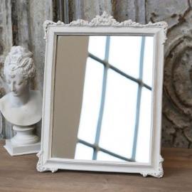 Speil med dekor - antikkhvit * , hemmetshjarta.no