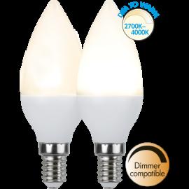 LED-Lampe E14 Ø37 Dim To Warm lm470/40w , hemmetshjarta.no