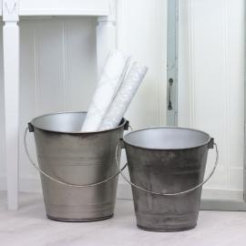 Bøtter 2-pakning - cloudy/grå , hemmetshjarta.no