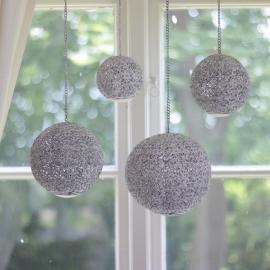 Uke 11 Lysekule i metall for telys Antikk hvit 16 cm , hemmetshjarta.no