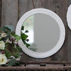 Speil med flettet ramme 29 cm * , hemmetshjarta.no