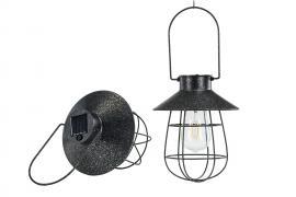 Lampe / solcelle LED Hengende Svart 17x22cm , hemmetshjarta.no