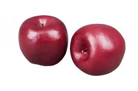 Kunstig eple mørk rød 70mm 3-pack , hemmetshjarta.no