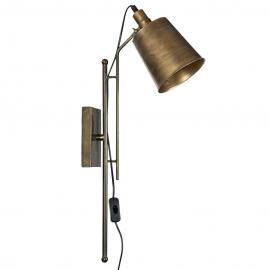 Vegglampe Freja - Messing , hemmetshjarta.no