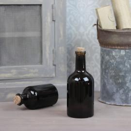 Glassflaske Kork Mørk brun 400ml 8x18cm , hemmetshjarta.no