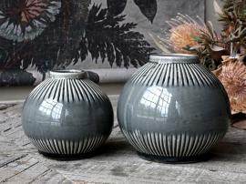 Alsace Vase med stripete mønster H14 / Ø15,5 cm opal , hemmetshjarta.no