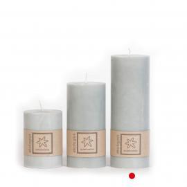 Kubbelys Økologisk Light Grey 100% stearin 7x20 , hemmetshjarta.no