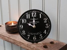 Bordklokke Ø15,5 cm svart , hemmetshjarta.no