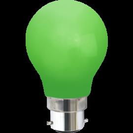 LED-Lampe B22 Outdoor Lighting A55 Grønn , hemmetshjarta.no
