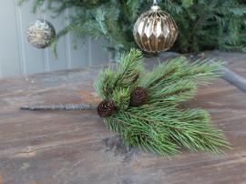 Fleur Gran gren med kongler H43 cm grønn , hemmetshjarta.no