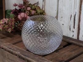Vase med diamantslipt H16 / Ø18 cm klar , hemmetshjarta.no