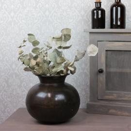 Vase Polly Antik Brun 18x20cm , hemmetshjarta.no