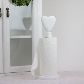 Tørkepapirholder Hjerte - vit , hemmetshjarta.no