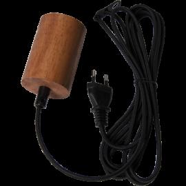 Lampeholder E27 Slim Brun 3,5m , hemmetshjarta.no