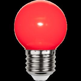 LED-Lampe E27 Outdoor Lighting G45 Rød , hemmetshjarta.no