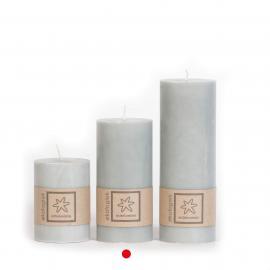 Kubbelys Økologisk Light Grey 100% stearin 7x15 , hemmetshjarta.no