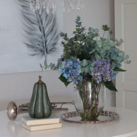 Bukett med vase 65 cm , hemmetshjarta.no