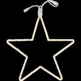 Utendørsdekorasjon System LED EL Stjerne Extra Varmhvit 55cm , hemmetshjarta.no