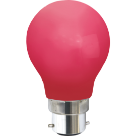 LED-Lampe B22 Outdoor Lighting A55 Rød , hemmetshjarta.no