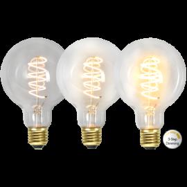 LED-Lampe E27 Decoled Spiral Clear G95 Dim 3-step , hemmetshjarta.no