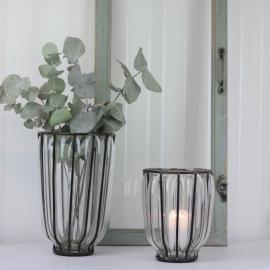 Vase/Lykt Glass/Rust Boney 2-pack , hemmetshjarta.no