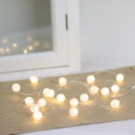 Batteridrevet lysløkke LED 20 stk lys perle , hemmetshjarta.no