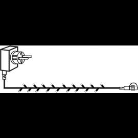 Utendørsdekorasjon System Decor EL Lyslenke Start Varmhvit 1000cm , hemmetshjarta.no