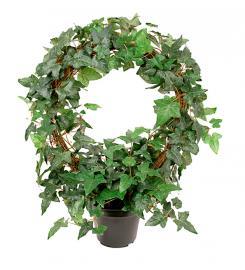 Kunstig Eføy Plante på bue 45 cm , hemmetshjarta.no