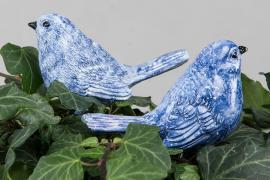 Fugl/Stick Mørkeblå Poly 9x4,5x6,5cm 2-pack , hemmetshjarta.no