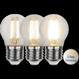 LED-Lampe E27 Ø45 Dim 3-step lm470/40w Clear , hemmetshjarta.no
