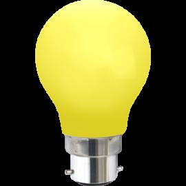 LED-Lampe B22 Outdoor Lighting A55 Gul , hemmetshjarta.no