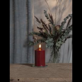 Batteridrevet Blokklys LED Flamme Rød 7,5x15cm , hemmetshjarta.no
