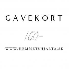 Gavekort - 100:- nok , hemmetshjarta.no